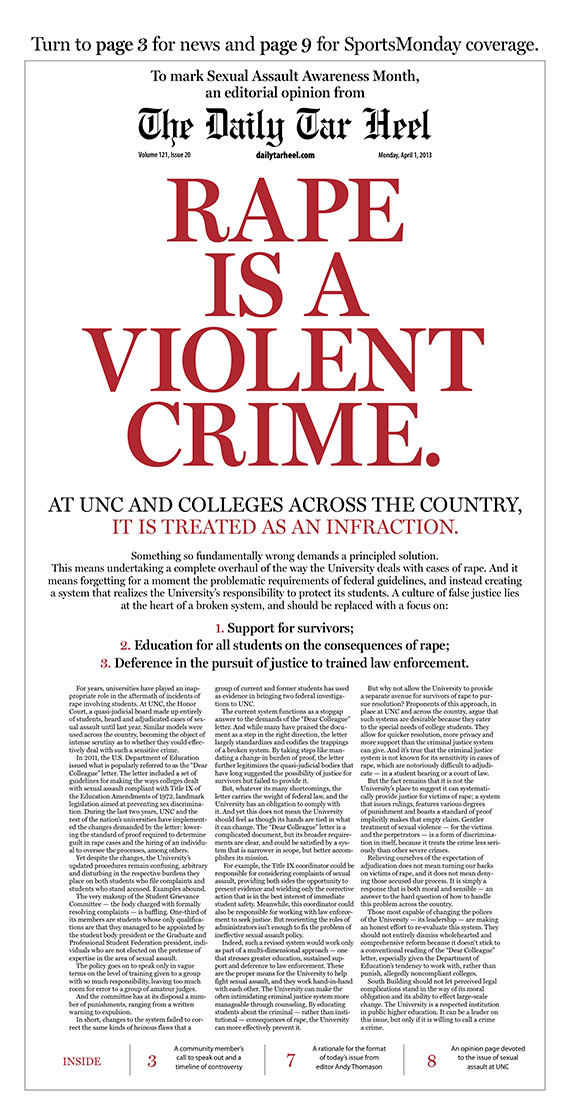 Rape is a Violent Crime. | UNC School of Media and Journalism
